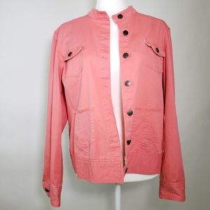 Relativity Coral Jacket with Floral details